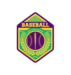 baseball league vintage isolated label vector image