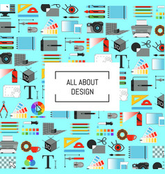digital art design icons background with vector image vector image