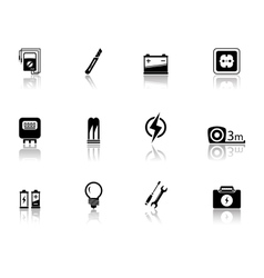 set of electrical equipment vector image