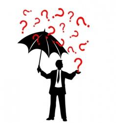 umbrella and rain background vector image vector image