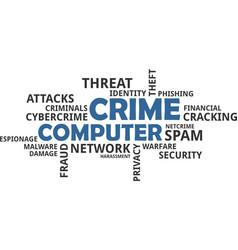 word cloud - computer crime vector image