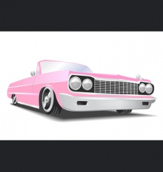 American convertible car vector image vector image