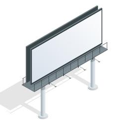 Billboard advertise billboard city light vector image vector image