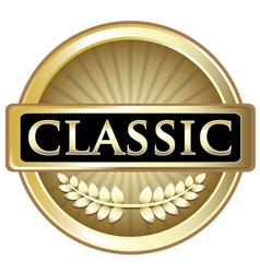 Classic Gold Label vector image