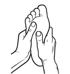 foot massage vector image vector image