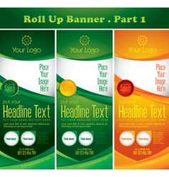 multipurpose rollup banner vector image vector image