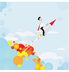 rocket shooting to goal vector image