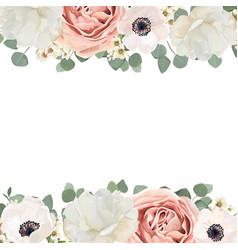 floral card design with flower bouquet of peach vector image vector image