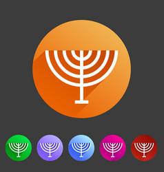 menorah hanukkah icon flat web sign symbol logo vector image vector image
