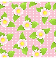 Seamless floral pattern on pink background vector image vector image