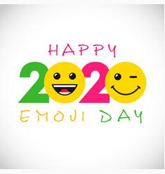 2020 smile web emozzi day vector