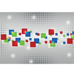 Abstract red blue green rectangles vector