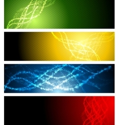 Abstract shiny sparkling banners vector