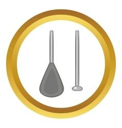 Aluminium folding paddle icon vector