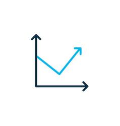 Arrow up icon colored symbol premium quality vector