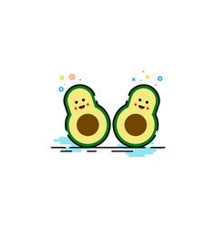 avocado fruit logo mbe style vector image