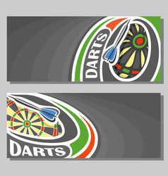 Banners for darts vector