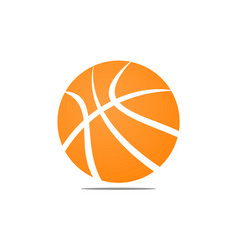 basket ball logo design template vector image