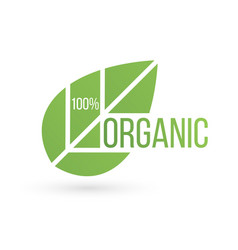 bio product eco organic leaf emblem sticker or vector image