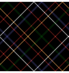 Black checkered diagonal plaid seamless pattern vector