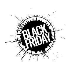 black friday promotion banner vector image