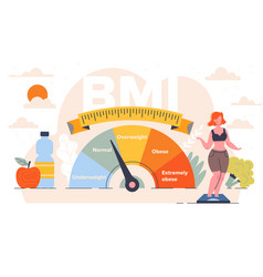 body mass index control abstract concept vector image