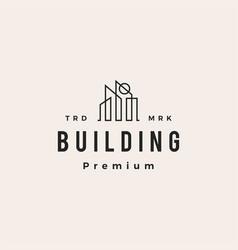 building sun skyline hipster vintage logo icon vector image