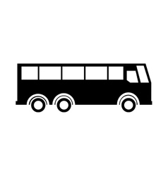 Bus transport service icon vector