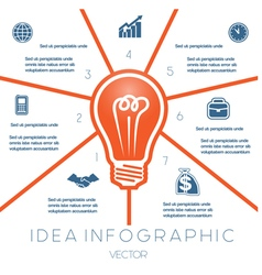 Business concept light bulb infographic 7 vector