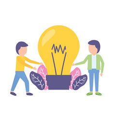 businessmen and bulb creativity vector image