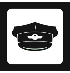 Cap taxi driver icon simple style vector