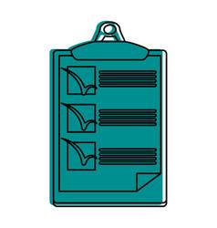 Checklist on clipboard icon image vector