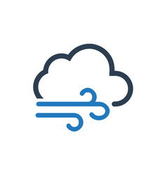 Cloudy weather icon vector
