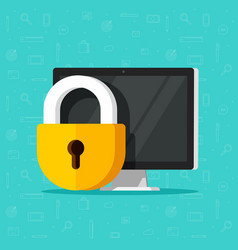 computer security isolated vector image