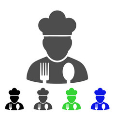 Cook profession flat icon vector