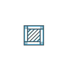crate icon line design business icon vector image
