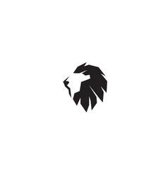 Creative black lion head logo vector