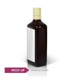 dark realistic square scotch bottle vector image