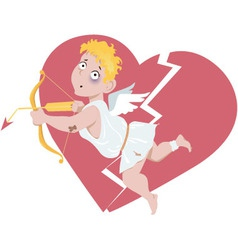 Defeated Cupid vector image