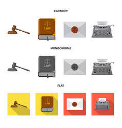 design of law and lawyer sign collection vector image