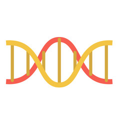 dna structure icon flat style vector image