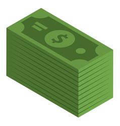 dollars banknotes icon isometric style vector image