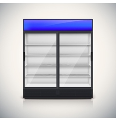 Double fridge with glass door vector image