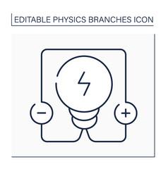 Electricity line icon vector
