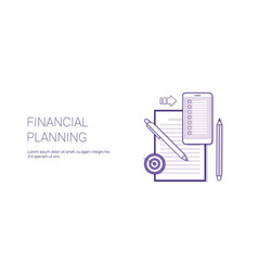 financial planning business concept template web vector image