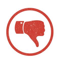 Grunge thumb down symbol vector