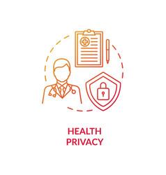 Health privacy concept icon vector