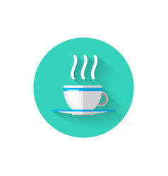 Hot coffee cup icon isolated symbol beverage vector