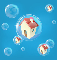 housing bubble concept vector image