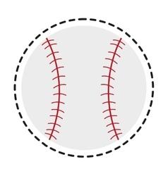 Isolated baseball toy design vector